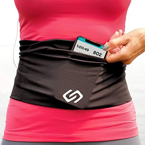 Sporteer Versaflex Hüfttaschen, Laufgürtel, Reisen Geld und Reisepass Gürtel - Passt Große Handys und Persönliche Gegenstände, (Medium)