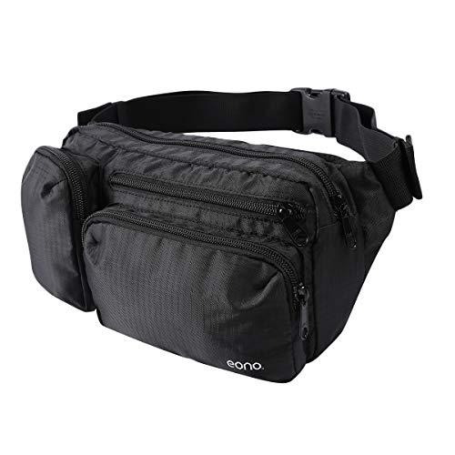 Amazon Brand - Eono Wasserabweisend Gürteltasche mit Mehreren Taschen, Bauchtasche mit Großem Fassungsvermögen für Wandern, Hundespaziergänge, Reisen und Outdoor-Aktivitäten