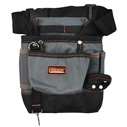 JAOMON Werkzeugtasche, Werkzeug-Gürtel, mit Tasche und verstellbarem Gürtel, Nageltasche multifunktionale Wartungstasche mit mehreren Taschen, Professional, Schwarz