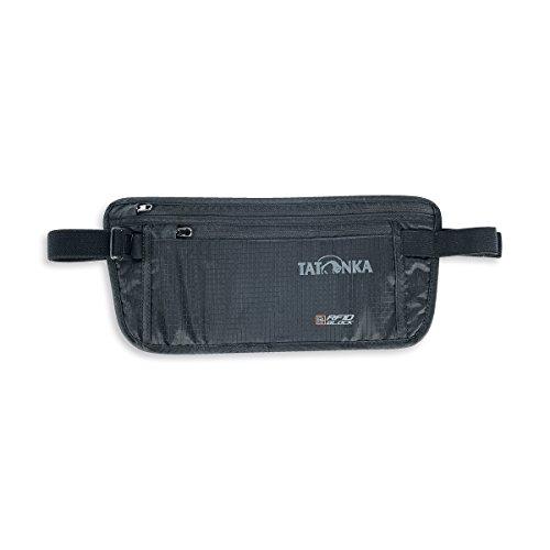 Tatonka Skin Moneybelt Int. RFID B - flache Bauchtasche mit TÜV-zertifiziertem RFID-Blocker und zwei Reißverschluss-Fächern - Hüfttasche für Frauen und Männer - schwarz