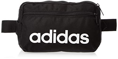 adidas Uni Linear Core Sport-Gürteltasche, Black/Black/White, 39 cm
