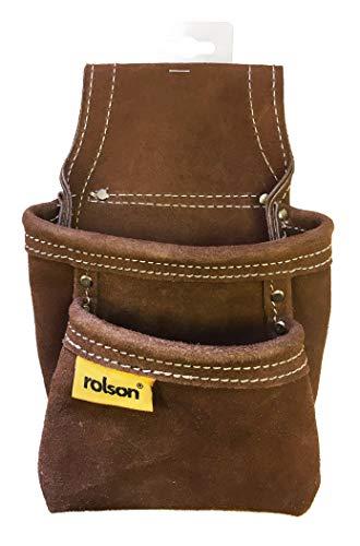 Rolson 68150 Nageltasche aus Leder mit zwei Fächern