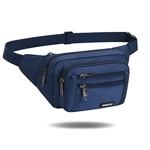 Gürteltasche Bauchtasche für Damen und Herren | wasserdichte Multifunktionale Hüfttasche mit Reißverschluss Geeignet für Reise Wanderung und Alle Outdoor-aktivitäten