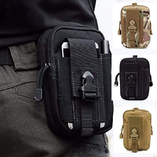 HoYiXi Taktische Hüfttaschen Multifunctional Gürteltaschen mit Handy-Tasche für Radfahren Klettern Angeln Wasserdicht Outdoorsport Kompakt und Leicht Bauchtasche-Schwarz(Fulfilled by Amazon)