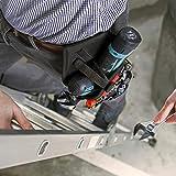 NoCry Werkzeughalter für Akkuschrauber | Werkzeuggürtel mit Platz für Zubehör und offenen Schlaufen für die Aufbewahrung von Werkzeugen und Bohrern | Schneller Zugriff | Gürtel-Befestigung