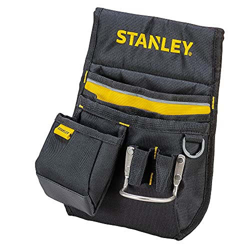 Stanley Gürteltasche / Werkzeuggürtel (33.2x23.5x7.5cm, 600 Denier Nylon, mit 2 Nageltaschen, 1 Hammerhalter und 1 Bandmaßtasche, leicht zugängliche Fächer) 1-96-181