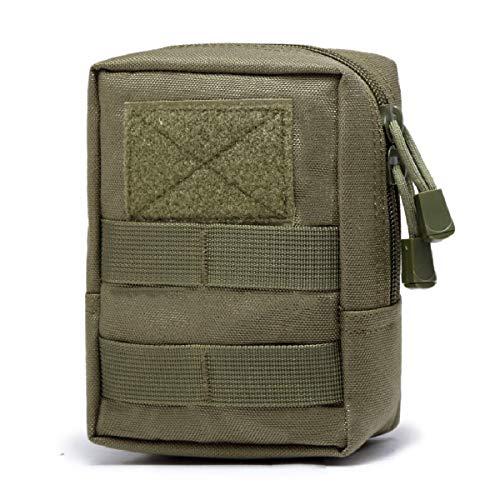 TRIWONDER Taktische Hüfttaschen, Molle Klein Tasche, Wasserdicht Gürteltasche Beutel für Camping Wandern Jagd (Grün)